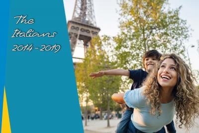 Italian visitors in Paris Region