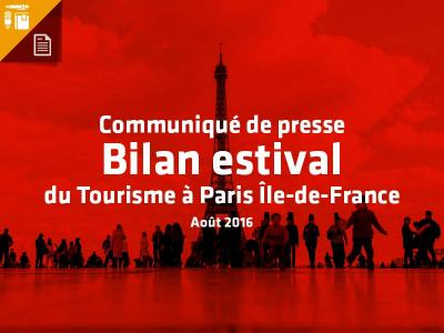 Une baisse sans précédent de la fréquentation touristique depuis 2010 qui entraîne des conséquences économiques inquiétantes pour la Destination Paris Ile-de-France