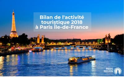 Le tourisme à Paris Région bat à nouveau tous les records en 2018 !
