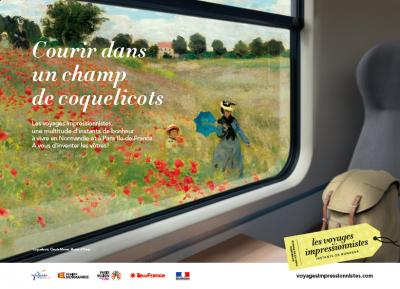 Normandie - Paris Ile-de-France, la Destination Impressionnisme s'affiche à Paris