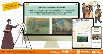 Un parcours de micro-formation dédié à la Destination Impressionnisme