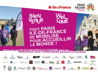 """With the """"Volunteers of tourism"""", the Region Ile-de-France and tourist professionals are committed to assuring the best of welcomes to tourists this summer"""