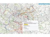 Carte du Grand Paris avec lignes du Grand Paris Express : exemple de requête