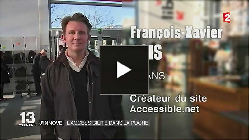Flash actu accessible.net au JT de 13h de France 2