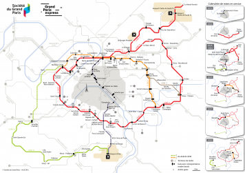 Carte du Grand Paris Express - grand format